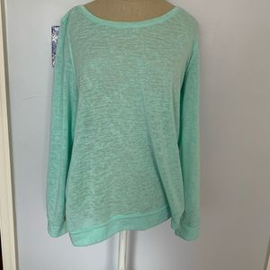 Lilly Pulitzer light sea foam sweater